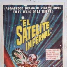 "Cine: ""EL SATÉLITE INFERNAL"" (SATELLITE IN THE SKY) - PÓSTER DE CINE ORIGINAL 1956. Lote 295829933"