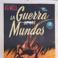 """Cine: """"LA GUERRA DE LOS MUNDOS"""" (THE WAR OF THE WORLDS) - PÓSTER DE CINE ORIGINAL 1953. Lote 295832713"""