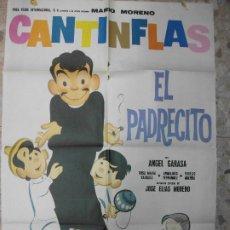 Cine: EL PADRECITO CANTINFLAS AÑOS 80 ANGEL GARASA CARTEL DE CINE 100 X 70 CM. POSTER. Lote 295840148