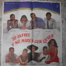 Cine: SE INFIEL Y NO MIRES CON QUIEN ANA BELEN CARMEN MAURA 1985 CARTEL DE CINE 100 X 70 CM. POSTER. Lote 295840228