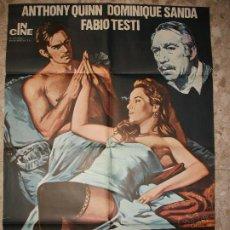 Cine: LA HERENCIA FERRAMONTI 1977 ANTHONY QUINN DOMINIQUE SANDA CARTEL DE CINE 100 X 70 CM. POSTER. Lote 295840268