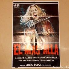 Cine: EL MÁS ALLÁ (THE BEYOND / L' ALDILÀ) LUCIO FULCI CARTEL ORIGINAL ESTRENO ESPAÑA RARO!!. Lote 296615533