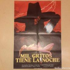 Cine: MIL GRITOS TIENE LA NOCHE (PIECES) JUAN PIQUER SIMÓN CARTEL ORIGINAL ESTRENO ESPAÑA COMO NUEVO!!. Lote 296615828