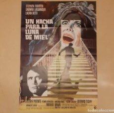 Cine: UN HACHA PARA LA LUNA DE MIEL (IL ROSSO SEGNO DELLA FOLLIA) MARIO BAVA CARTEL ORIGINAL 1970. Lote 296616553