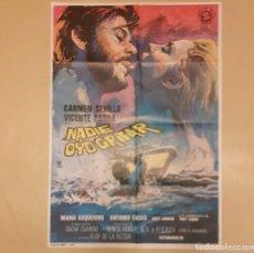 Cine: NADIE OYÓ GRITAR ELOY DE LA IGLESIA, CARMEN SEVILLA, VICENTE PARRA CARTEL ORIGINAL ESTRENO 1972. Lote 296617228