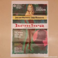 Cine: HEMBRA (PROHIBIDO) CESAR F. ARDAVIN, JULIAN MATEOS, LINA ROSALES ORIGINAL ESTRENO 1970. Lote 296617703