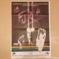 Cine: LA FURIA (THE FURY) BRIAN DE PALMA, KIRK DOUGLAS, JOHN CASSAVETES CARTEL ORIGINAL ESTRENO 1979. Lote 296619778