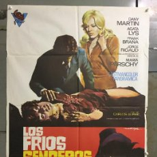 Cine: CDO N282 LOS FRIOS SENDEROS DEL CRIMEN CARLOS AURED AGATA LYS POSTER ORIGINAL 70X100 ESTRENO. Lote 296696318