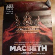 Cine: OPERA: MACBETH - APROX 70X100 CARTEL ORIGINAL CINE (L94). Lote 296744873