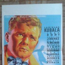 Cine: KUBALA. LOS ASES BUSCAN LA PAZ. CARTELITO DE 27X42CM. SOLIGÓ.. Lote 296789683