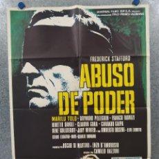 Cine: ABUSO DE PODER. FREDERICK STAFFORD, MARILU TOLO, RAYMOND PELLEGRIN. AÑO 1973 POSTER ORIGINAL. Lote 296833283