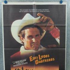 Cine: ESOS LOCOS CUATREROS. TOM BERENGER, G.W. BAILEY, MARILU HENNER. AÑO 1985. POSTER ORIGINAL. Lote 296839348