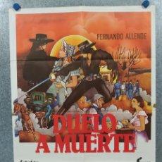 Cine: LA VENGANZA DEL LOBO NEGRO (DUELO A MUERTE) FERNANDO ALLENDE AÑO 1981. POSTER ORIGINAL. Lote 296840133
