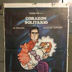 Cine: CDO N315 CORAZON SOLITARIO LA POLACA MAXIMO VALVERDE BETRIU POSTER ORIGINAL 70X100 ESTRENO. Lote 296840248