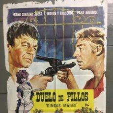 Cine: CDO N317 DUELO DE PILLOS FRANK SINATRA POSTER ORIGINAL 70X100 ESTRENO. Lote 296843178