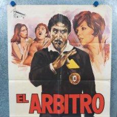 Cine: EL ÁRBITRO. JOAN COLLINS, LANDO BUZZANCA. AÑO 1974. POSTER ORIGINAL. Lote 296850603