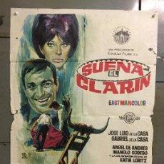 Cine: CDO N322 SUENA EL CLARIN JOSE LUIS GABRIEL DELA CASA TOROS POSTER ORIGINAL 70X100 ESTRENO. Lote 296853933