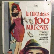 Cine: CDO N324 LA CHICA DE LOS 100 MILLONES JEAN-CLAUDE BRIALY MARIE LAFORET JANO POSTER ORIG 70X100. Lote 296860703