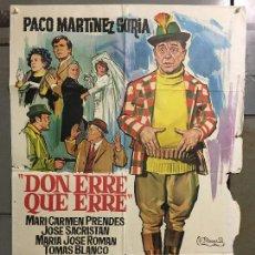 Cine: CDO N325 DON ERRE QUE ERRE PACO MARTÍNEZ SORIA MARI CARMEN PRENDES POSTER ORIGINAL ESTRENO 70X100. Lote 296862413