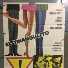 Cine: CDO N326 EL TRIANGULITO FERNANDO FERNAN GOMEZ GERARD BARRAY FORQUE POSTER ORIGINAL 70X100 ESTRENO. Lote 296863083