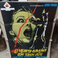 Cine: LA MUERTE CAMINA CON TACON ALTO GIALLO PÓSTER ORIGINAL 70X100 M457. Lote 296867208