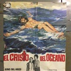 Cine: CDO N330 EL CRISTO DEL OCEANO JOSE SUAREZ PILAR VELAZQUEZ POSTER ORIGINAL 70X100 ESTRENO. Lote 296875098