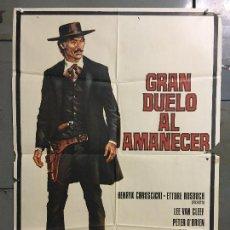 Cine: CDO N341 GRAN DUELO AL AMANECER LEE VAN CLEEF HORST FRANK SPAGHETTI POSTER ORIGINAL 70X100 ESTRENO. Lote 296966278