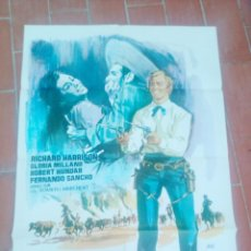 Cine: CARTEL DE CINE 70X 100 APROX MOVIE POSTER VER FOTO EL SABOR DE LA VENGANZA JANO RICHARD HARRISON. Lote 297022118