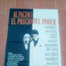 Cine: CARTEL DE CINE 70X 100 APROX MOVIE POSTER VER FOTO EL PRECIO DEL PODER AL PACINO BRIAN DE PALMA. Lote 297026028