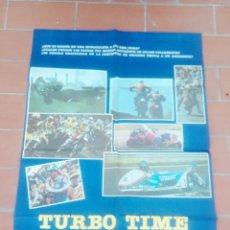 Cine: CARTEL DE CINE70X 100 APROX MOVIE POSTER VER FOTO TURBO TIME LA PASION POR LA VELOCIDAD JAMES DAVIS. Lote 297028553