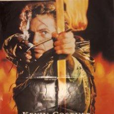 Cine: CARTEL DE ROBIN HOOD DE KEVIN COSTNER. 60X42 CMS. Lote 297041108