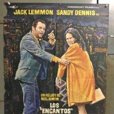 Cine: CDO N359 LOS ENCANTOS DE LA GRAN CIUDAD JACK LEMMON ARTHUR HILLER MAC POSTER ORIGINAL 70X100 ESTRENO. Lote 297055428