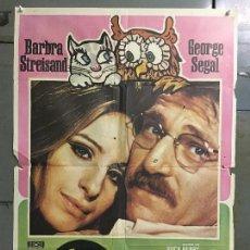 Cine: CDO N363 LA GATITA Y EL BUHO BARBRA STREISAND GEORGE SEGAL MAC POSTER ORIGINAL 70X100 ESTRENO. Lote 297056633