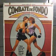 Cine: CDO N376 COMBATE DE FONDO BARBRA STREISAND BOXEO POSTER ORIGINAL ESTRENO 70X100. Lote 297070958