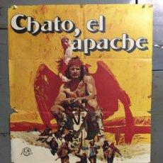 Cine: CDO N377 CHATO EL APACHE CHARLES BRONSON JACK PALANCE INDIOS POSTER ORIGINAL 70X100 ESTRENO. Lote 297072773