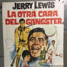 Cine: CDO N380 LA OTRA CARA DEL GANGSTER JERRY LEWIS TENIS SUBMARINISMO JANO POSTER ORIG 70X100 ESTRENO. Lote 297083348