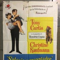 Cine: CDO N382 SALVAJE Y ENCANTADOR TONY CURTIS CHRISTINE KAUFMANN POSTER ORIGINAL 70X100 ESTRENO. Lote 297084203