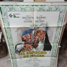 Cine: EL DERECHO DE NACER AURORA BAUTISTA POSTER ORIGINAL 70X100 M466. Lote 297106693