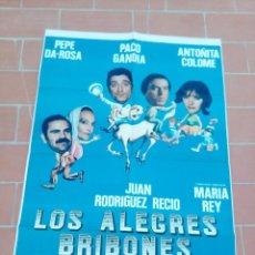 Cine: CARTEL DE CINE 70X 100 APROX MOVIE POSTER VER FOTO LOS ALEGRES BRIBONES PEPE DE ROSA PACO GANDIA. Lote 297155693
