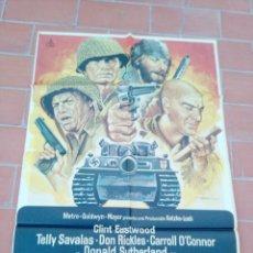 Cine: CARTEL DE CINE 70X 100 APROX MOVIE POSTER VER FOTO LOS VIOLENTOS DE KELLY CLINT ESDTWOOD. Lote 297160108