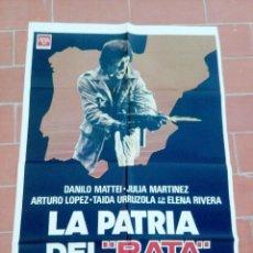 Cine: CARTEL DE CINE 70 100 AP MOVIE POSTER VER FOTO LA PATRIA DEL RATA DANILO MATTEI FRANCISCO LARA POLOP. Lote 297160983