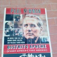 Cine: CARTEL DE CINE 70X 100 APROX MOVIE POSTER VER FOTO DISTRITO APACHE FORT APACHE THE BRONX PAUL NEWMAN. Lote 297161448