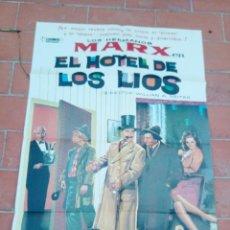 Cine: CARTEL DE CINE 70X 100 APROX MOVIE POSTER VER FOTO HOTEL DE LOS LIOS LOS HERMANOS MARX. Lote 297164993