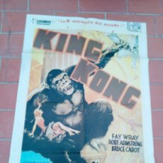 Cine: MOVIE POSTER CARTEL DE CINE ORIGINAL DE EPOCA 70X100 APROX VER FOTO KING KONG FAY WRAY MERIAN C. Lote 297165803