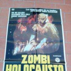 Cine: CARTEL DE CINE 70X 100 APROX MOVIE POSTER VER FOTO ZOMBI HOLOCAUSTO FRANK MARTIN IAN MC CULLOCH. Lote 297175848