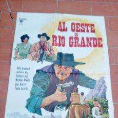 Cine: CARTEL DE CINE 70X 100 AP MOVIE POSTER VER FOTO AL OESTE DE RIO GRANDE LEAL ALDO SAMBREL J.M.ZABALZA. Lote 297179053