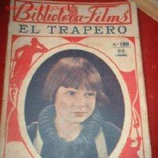 Cine: BIBLIOTECA-FILMS Nº100 ELTRAPERO, POR: JAKIE GOOGAN. Lote 864065