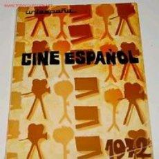 Cine: CINE ESPAÑOL 1972, FICHAS TENICO ARTISTICAS Y SINOPSIS DE LOS LARGO METRAJES ESPAÑOLES . Lote 24970796