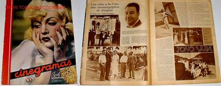 ANTIGUA REVISTA DE CINE CINEGRAMAS Nº 94 28 DE JUNIO 1936 (Cine - Revistas - Cinegramas)