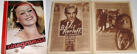 ANTIGUA REVISTA DE CINE CINEGRAMAS Nº 92 - 14 DE JUNIO 1936 (Cine - Revistas - Cinegramas)